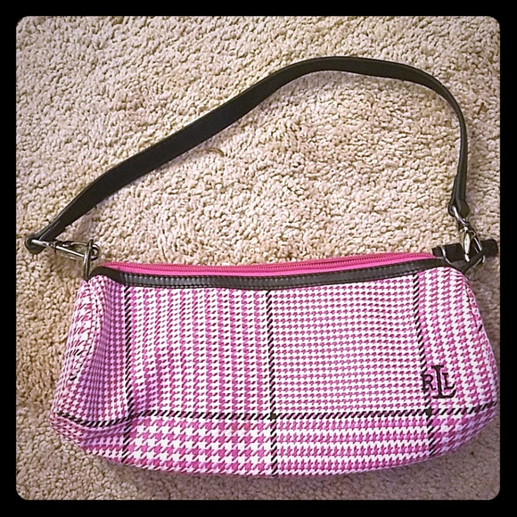Lauren Ralph Lauren pink plaid purse